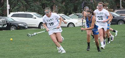 Wattenbarger and her CSU Women's Lacrosse teammates on the field.