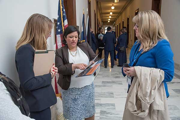 Kristy Pabilonia in Washington talking to senators